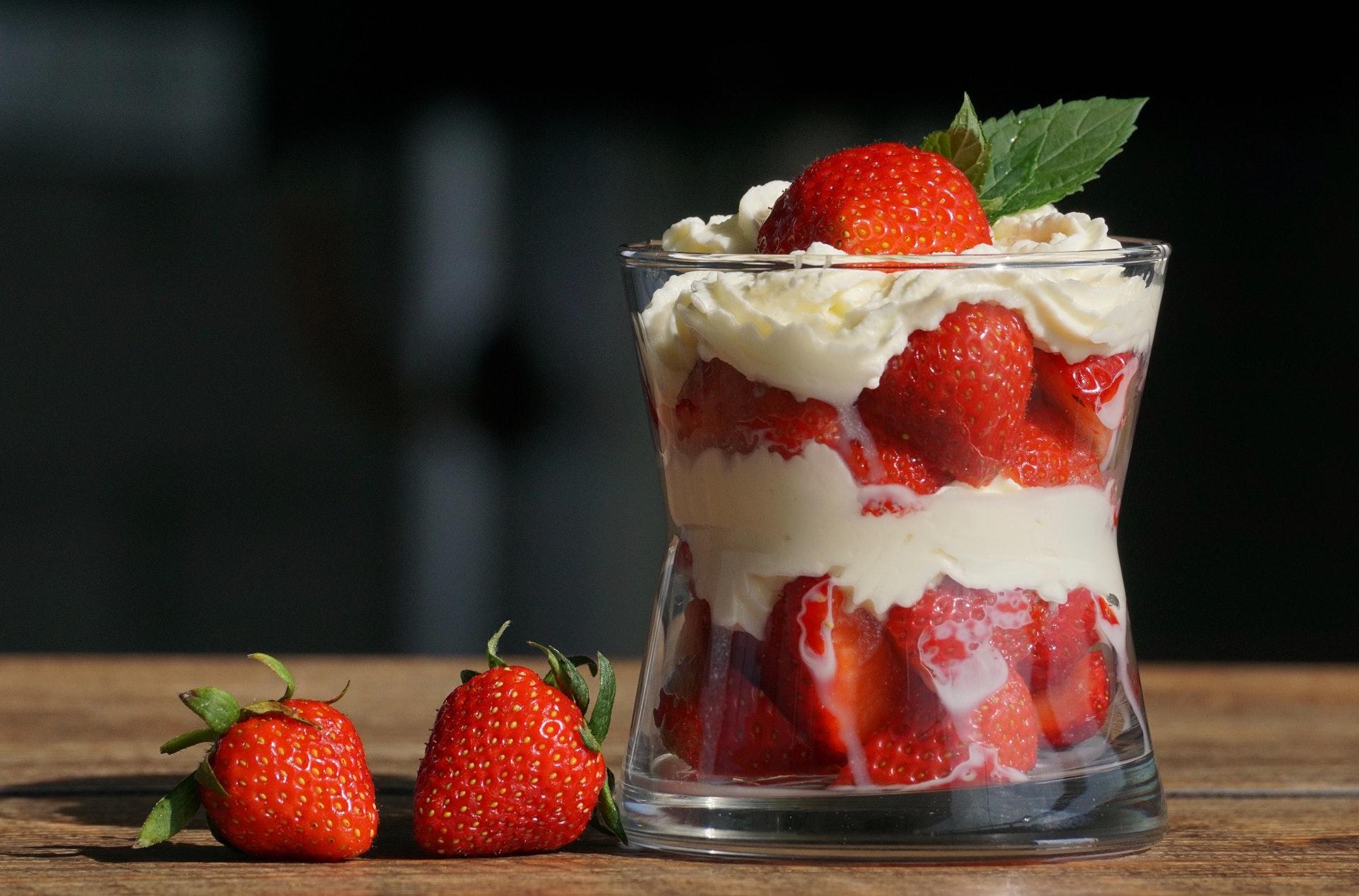Delicious strawberry dessert which easy to make